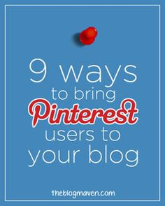 If you love Pinterest and love to blog, you'll think you died and went to heaven when you read these tips from Jeni, the Blog Maven.