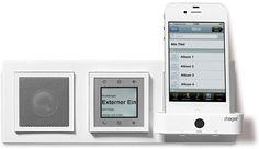 UKW-Radio und iPhone-Stereoanlage für's Kallysto-Schalterprogramm von Hager