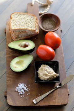 Hummus & Avocado Toasts with Roasted Tomatoes