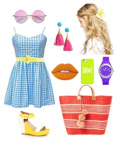 """""""On a shiny day"""" by ayukatz ❤ liked on Polyvore featuring ASOS, CAFèNOIR, Casetify, Mar y Sol, Lime Crime, adidas, gingham and oontood"""