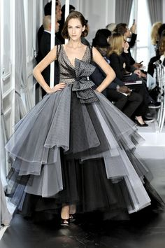 Dior black and white wedding dress 2013