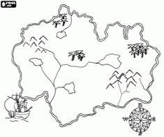 mapa ostrova omalovánka - Hledat Googlem