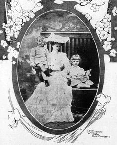 Consuelo Vanderbilt | San Francisco Call (28 Aug1904) Have the Marlboroughs Come to a Parting of the Ways? Pictured: Consuelo, Duchess of Marlborough with her sons, Lord Ivor and John, Marquess of Blandford (later 10th Duke of Marlborough).