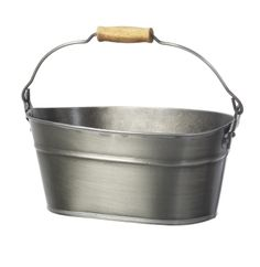 Galvanised Bucket – Parlane International :  This galvanised oval shaped bucket would be a great container for planting herbs or unusual succulents. It would even be useful container for storing your clothes pegs. 27cm x 16cm x 14cm. Buy Online : http://www.thegardenrose.co.uk/buy-online/galvanised-bucket-by-parlane-international-2/