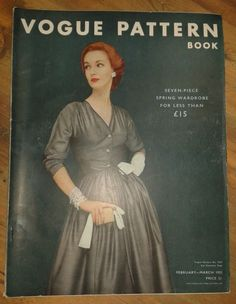 Vogue Pattern Book, February-March 1952 featuring Vogue 7574
