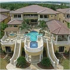 """Luxury Homes Interior Dream Houses Exterior Most Expensive Mansions Plans Modern 👉 Get Your FREE Guide """"The Best Ways To Make Money Online"""" Huge Houses, Dream Houses, Big Houses With Pools, Amazing Houses, Dream Mansion, House Goals, Dream Rooms, Architecture, My Dream Home"""