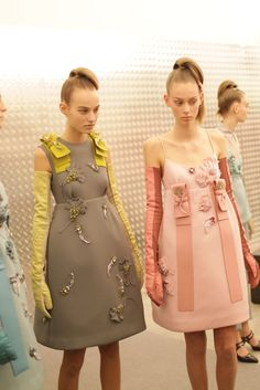 Backstage at Prada RTW Fall 2015 [Photo by Kuba Dabrowski]