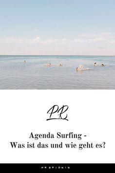 Gerade wird in den Medien genau über dein Thema heiß diskutiert und du nutzt die Gunst der Stunde, um dich in die Diskussion einzubringen und bei dem Thema zu positionieren? Dann hast du Agenda Surfing betrieben. #pr #publicrelations #pressearbeit Influencer Marketing, Public Relations, Corporate, Content Marketing, Surfing, Blogging, Psychics, Tips, Surf