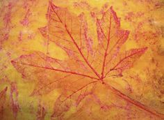 Filth Wizardry: Leaf rubbing and paint mural