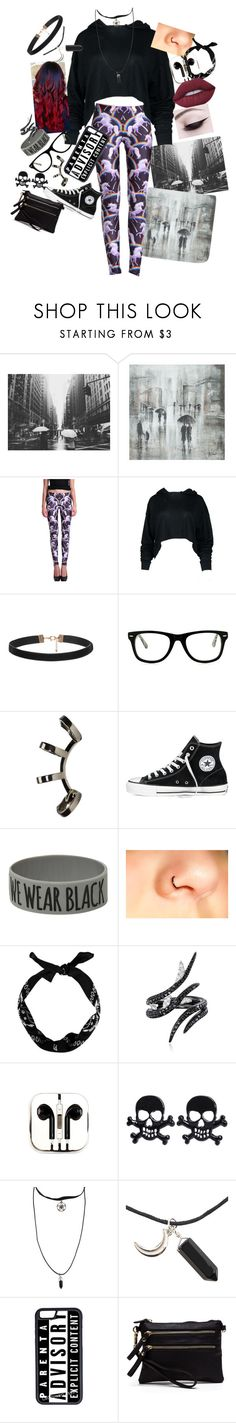"""Just want my rainy day in"" by pineapple1323 ❤ liked on Polyvore featuring Leftbank Art, Muse, Repossi, Converse, Coven, New Look, AS29, PhunkeeTree, Hot Topic and CellPowerCases"