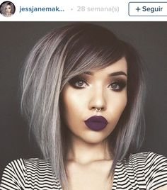 Grey short hair