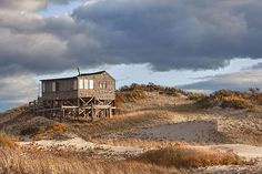 Love this beach cabin built among the Cape Cod dunes.
