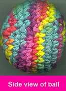 Hacky Sack or Stress Ball Crochet Pattern made these for my teenage son he loved them great for fundraisers at schools with school colors