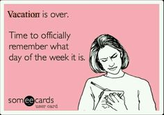 Yup!....Summer Vacation is over for me.... officially Back To Work today☺