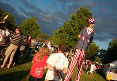 Natasha Shatzkin wowed the crowd as a 15-foot tall Uncle Sam at the Colts Neck Country Fair http://patch.com/A-jRb7