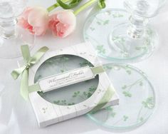 Whimsical Fields - Spring Leaf glass Coasters BD017@Shanghai Beter Gifts Co Ltd