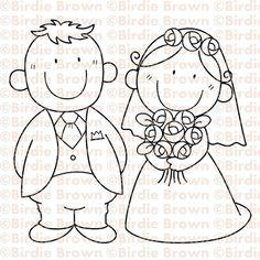 Digital stamp -- Lovely Couple via Etsy
