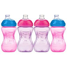 Nuby 4 Count Super Spout Easy Gripper PinkPurple 10 Ounce *** Be sure to check out this awesome product.Note:It is affiliate link to Amazon.