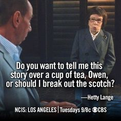 I love Hetty. But Granger I don't know, there's just something about him I don't like.