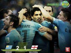 #VivaBrasil Termina el partido en Arena de São Paulo, marcador: Uruguay 2-1 Inglaterra #Mundial2014