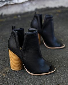 Shoes Ankle Boots Slip On Side Cut Peep Toe Medium Mid Heels Ankle Sandals Booties Boots