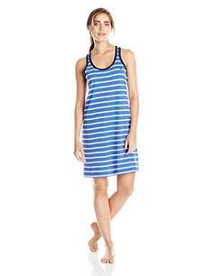 1b7d052f3e Nautica Sleepwear Women s Knit Stripe Tank Chemise