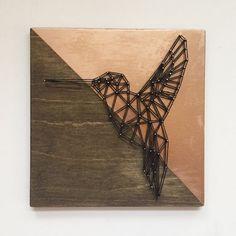 Geometric Hummingbird String Art Geometric Animal Bird