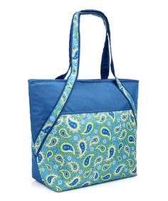 Look what I found on #zulily! Blue Paisley Insulated Super Tote by Sachi #zulilyfinds