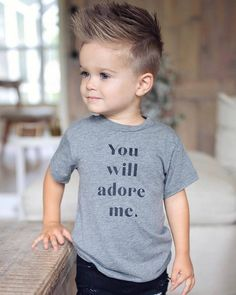 You will adore me! Toddler Boy Haircuts, Baby Boy Hairstyles, Toddler Boys, Baby Kids, Emo Hairstyles, Little Boy Haircuts, Hairstyle Men, Teen Boys, Formal Hairstyles