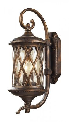 Outdoor Wall Lighting - ELK Lighting 2 LIGHT OUTDOOR SCONCE IN HAZLENUT BRONZE AND 42031/2
