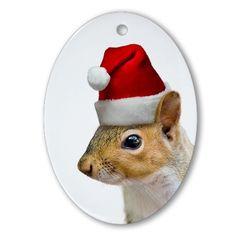 Santa Squirrel Christmas Ornament on CafePress.com $14.50
