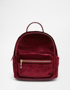 Street Level Micro Velvet Backpack