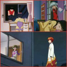 Típico de románticos! Sitio de encuentro: la ventana de la habitación de una chica. Solo Rumiko Takahashi ♡