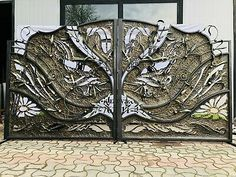 DRIVEWAY WROUGHT IRON GATES Beautiful Steel Ornamental Design ENTRANCE GATE   eBay Wrought Iron Gates, Driveway Gate, Entrance Gates, Garden Fencing, Rivers, Outdoor Gardens, Outdoor Living, Home And Garden, Moon
