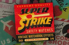 Check out Super Strike - Matchbook Effects by Vintage Design Co. on Creative Market