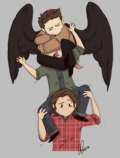 I don't know who to feel sorry for... Moose for carrying all that weight or Squirrel for having a fallen angel/human around wrapped around his head...