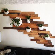 Creative DIY Wooden Wall Planter Ideas To Inspiring Your Home Decor - Diy Wall Planter, Ceramic Wall Planters, Planter Ideas, Planter Pots, Wall Mounted Planters Outdoor, Hanging Pots, Diy Wooden Wall, Wooden Walls, Retro Home Decor