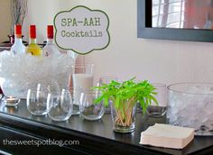 A Spa-Aah Party! Spa-themed party http://thesweetspotblog.com/spa-party-a-wrap-event/ #party #spa