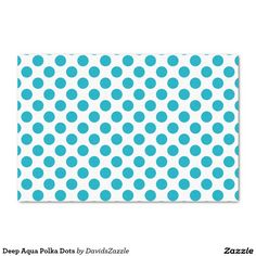 Deep Aqua Polka Dots Tissue Paper This design is available on many products! Click the 'available on' tab near the product description to see them all! Thanks for looking!  @zazzle #art #polka #dots #pattern #wrapping #paper #gift #bag #tag #birthday #holiday #color #black #white #blue #green #orange #yellow #purple #aqua #shop #buy #fun #chic #wrap #modern #classic #simple #easy #design #tag #ribbon #tissue