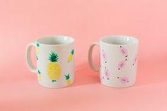 DIY pineapple and papaya mug - Carnets parisiens