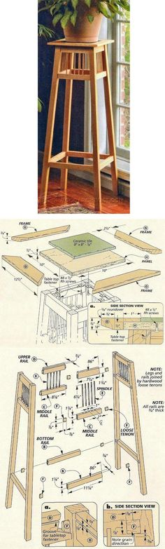 DIY Plant Stand - Furniture Plans and Projects   WoodArchivist.com