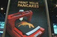 The Pancake Bot is a robotic pancake printer that comes with tracing software allowing you to trace anything directly onto your computer. Pancake, First World, Printer, Shapes, Cool Stuff, Inventions, Random Things, Youtube, Gadgets