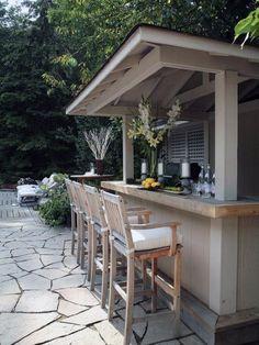50 Outdoor Mini Bar Ideas In Your Backyard - Bar - Outdoor Kitchen Ideas Outdoor Bar Furniture, Outdoor Patio Bar, Outdoor Kitchen Bars, Backyard Bar, Outdoor Kitchen Design, Outdoor Spaces, Outdoor Living, Outdoor Kitchens, Outdoor Bars