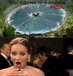 The arena is a pizza