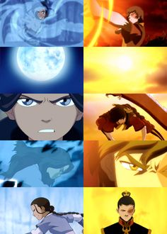 """You rise with the moon, I rise with the sun."" - Katara and Zuko - Avatar"