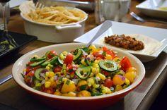 Salada para acompanhar tacos e burritos