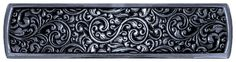 Saddleworth Tooled Leather Look Drawer Pull inch brite nickel american made in usa notting hill decorative hardware western decor bright nickel Western Bathroom Decor, Western Bathrooms, Western Decor, Leather Tooling, Tooled Leather, Antique Pewter, Hand Cast, Cabinet Knobs, Drawer Pulls