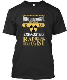 Radiologic Technologist  Black T-Shirt Front