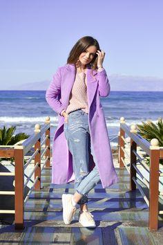 Purple Winter Coat by Tamara Bellis Shiny Honey Fashion and Lifestyle Blog