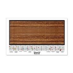 2017 Calendar Hardwood Plank Wall Decal  More than 100 to choose from.  Follow this link   http://www.cafepress.com/cheylines/14087576